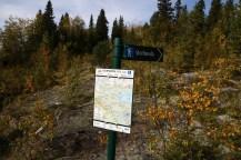 The Gravset trailhead signpost