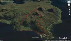 Our route across Nystøylhornet