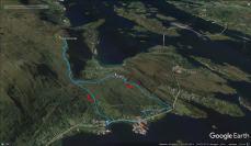 Our route across Sandvikhornet and Skåla