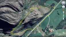 Our route through Gjerddalshalsen