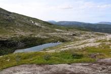 Lake 261m where I got on the Dalaunfjellet path