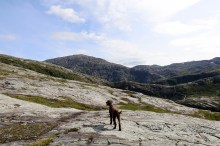 Aiming for lake Tettingvatnet (Titingsvatnet)