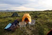 Camp life in Grimsdalen