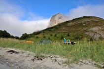 Our camp in Hestvika