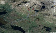 Our route across Rimmafjellet