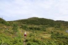 Fløystadfjellet ahead