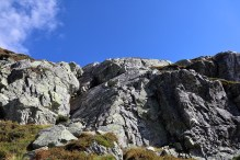 Where I scrambled/climbed down