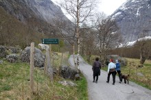 This is where the glacier reached in 1800