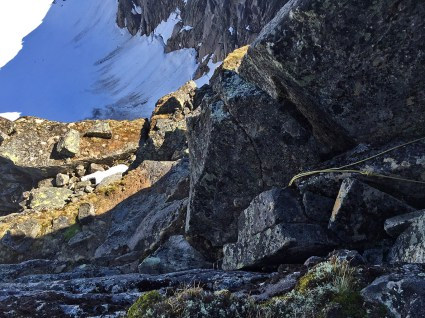 Possible the crux of the route