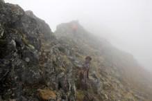 The ridge is getting more distinct