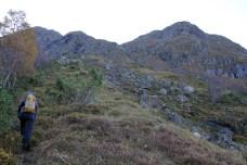 On the ridge to the mountain