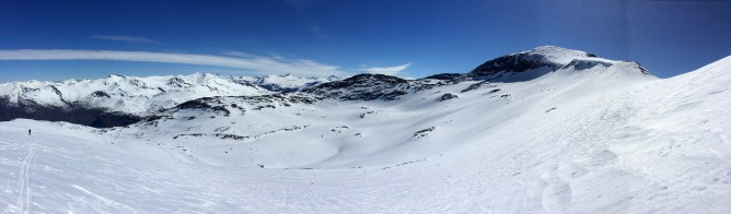 Heading up the ridge