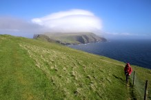 Knúkur with fog on top