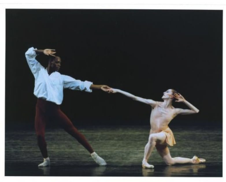 "Albert Evans and Wendy Whelan in ""The Goldberg Variations."" Photograph by Paul Kolnik"