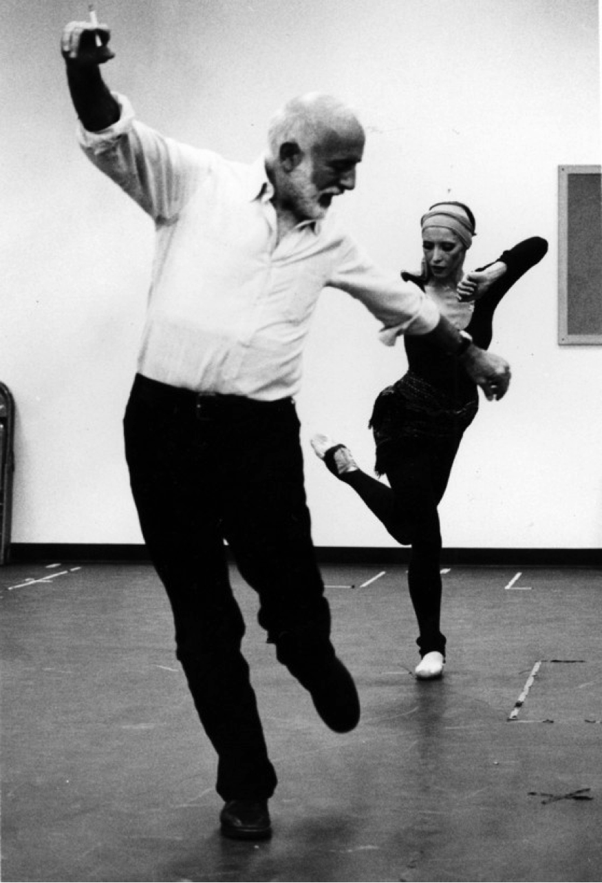 Natalia Makarova with Jerome Robbins rehearsing Other Dances. (c) Brownie Harris