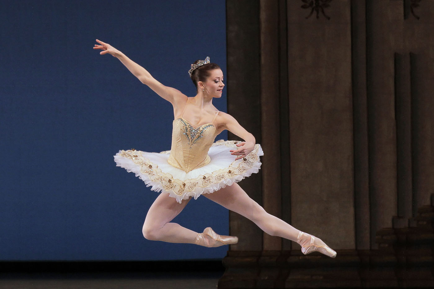 "Megan Fairchild in George Balanchine's ""Tschaikovsky Suite No. 3."" Photograph by Paul Kolnik"