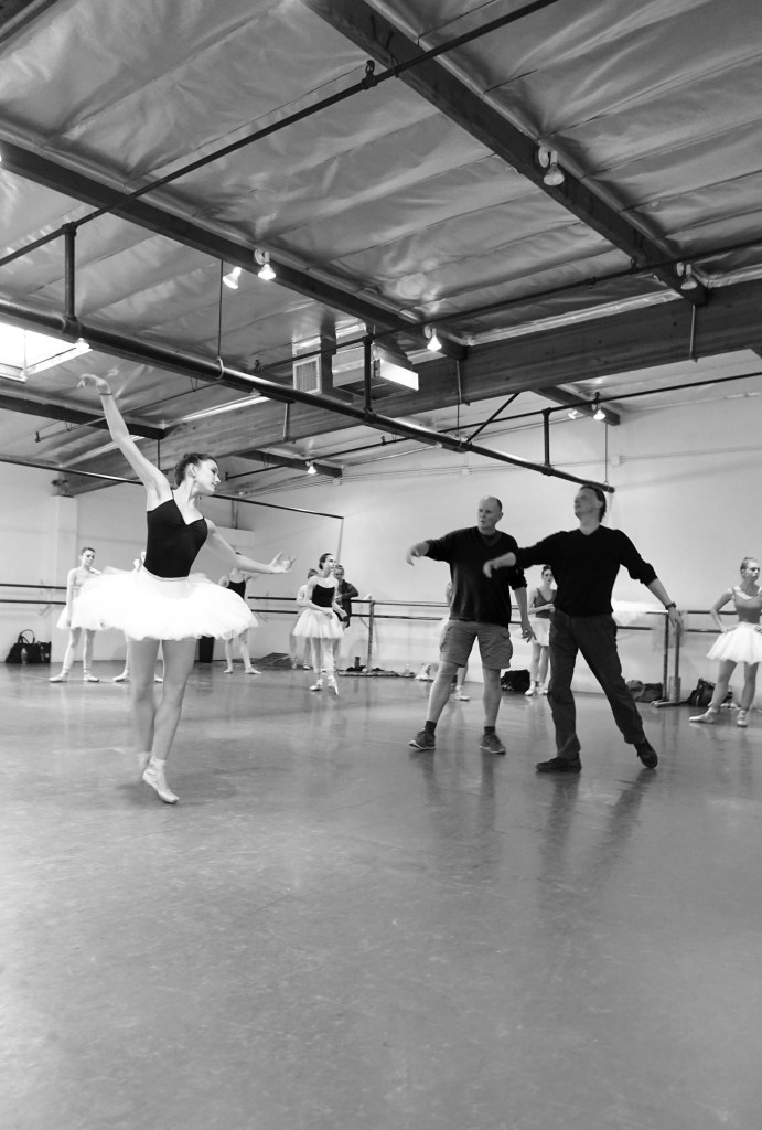 """Los Angeles Ballet rehearsing """"Don Quixote."""" Photograph by Catherine Kanner"""