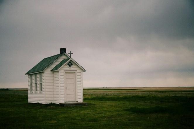 A tiny old church near Leader, SK.