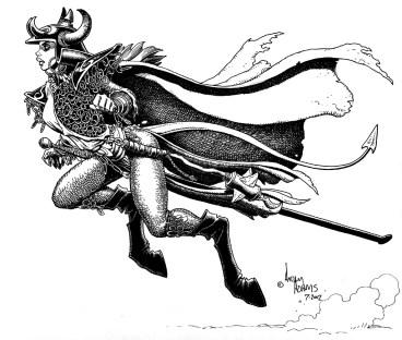 Magik par Arthur Adams sous sa forme semi-démone