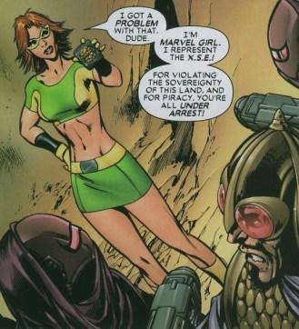 """Rachel """"light"""" dans Uncanny X-Men par Alan Davis"""