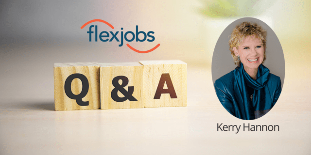 flexjobs kerry hannon q and a