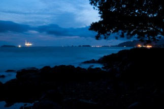 Calm night in Limbe, Cameroon