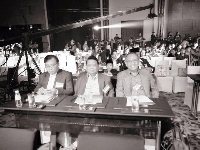 Delegasi dari FKUB Provinsi DKI Jakarta, Pdt. Manuael Raintung, H. Taufiq Rahman dan KH. Ahmad Syafii Mufid (fkub/budi)