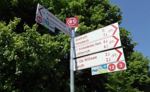 Radfahrer Knotenpunktsystem Nettetal Kreis Viersen Niederrhein NRW