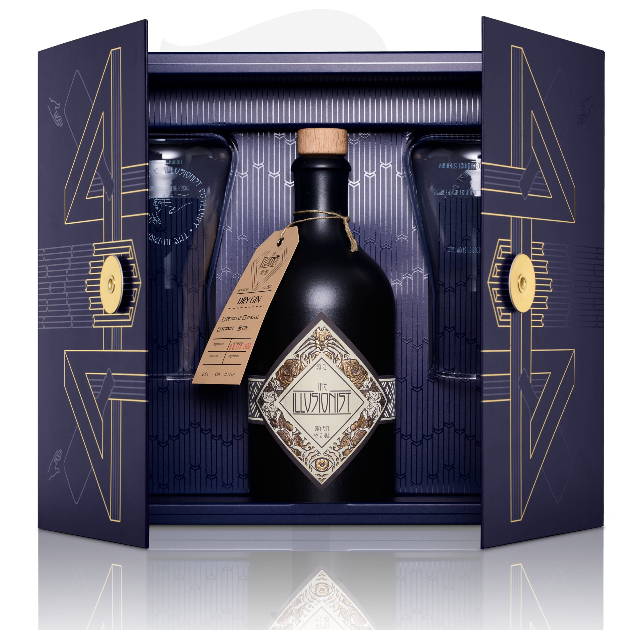 The Illusionist Gin Mysterium Box Frontview Open