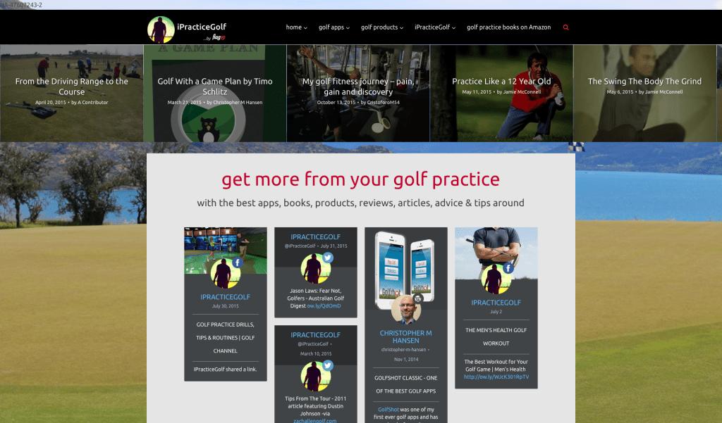ipracticegolf.com resource for golf practice