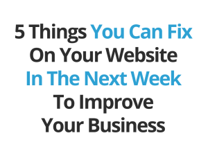 Five Fixes for your website