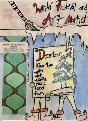 2019 FALA Winter Festival and Art Market Flyer