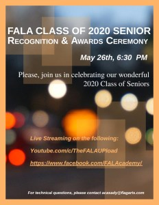Class Of 2020 Senior Recognition & Awards Ceremony