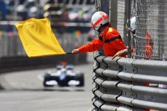 Gul flagg är vanligt i Monaco (Foto: Mark Thompson/Getty Images Europe)