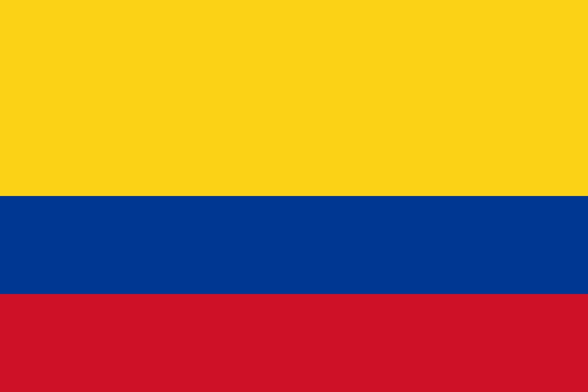 Colombia Flag Coloring Pages