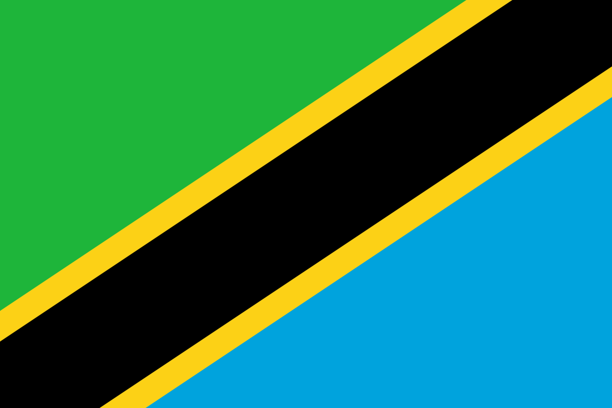 Tanzania Flag Coloring Pages