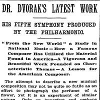 dvorak symphony from the new world
