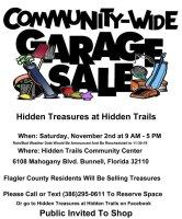 community garage sale hiddeen trails