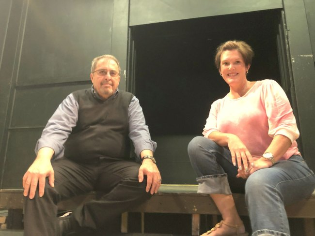 """Flagler Playhouse artistic director Paul Prece, left, will make his debut production with the theater with """"Talking With . . .,"""" which runs May 7-16. Jerri Berry, right, became Flagler Playhouse president in July 2020. (© FlaglerLive)"""