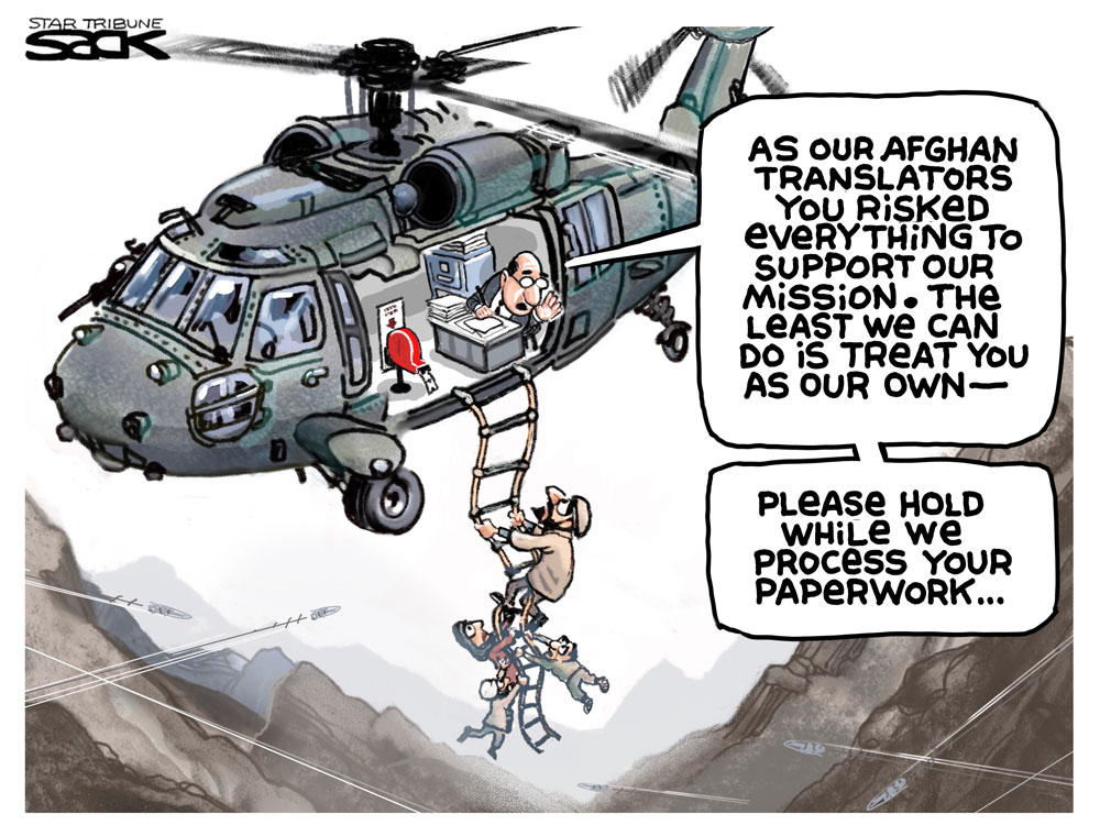 afghan exit Steve Sack, The Minneapolis Star-Tribune, MN