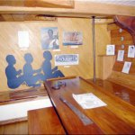 Not included in the principles of the Declaration: a replica of the interior of the slave ship Amistad. (Florida Memory)