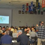 There was some public anger, a lot of skepticism and plenty of anxiety Thursday evening at Matanzas High School, at a community meeting organized by the developer of a proposed development along the Matanzas gold course in North Palm Coast. (© FlaglerLive)