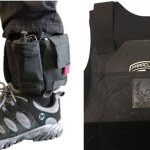 The ankle kits and armored plates school resource deputies are now wearing.