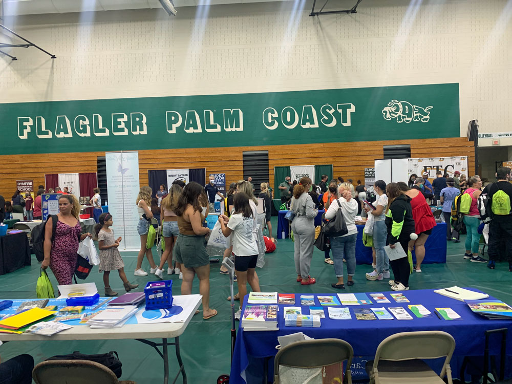 The countywide Back to School Jam at FPC on Aug. 7. (© FlaglerLive)