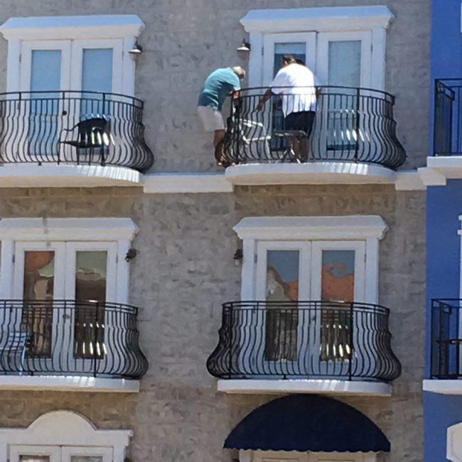 european village balcony