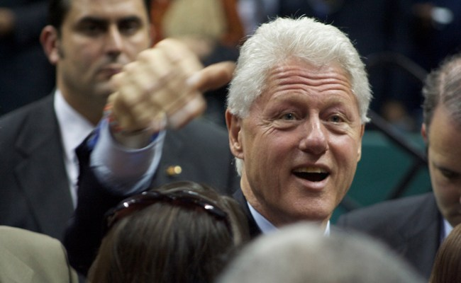 Bill Clinton, seen here in an appearance in North Carolina, spent Saturday in Florida, campaigning for Charlie Crist and other Democrats. (Justin Ruckman)