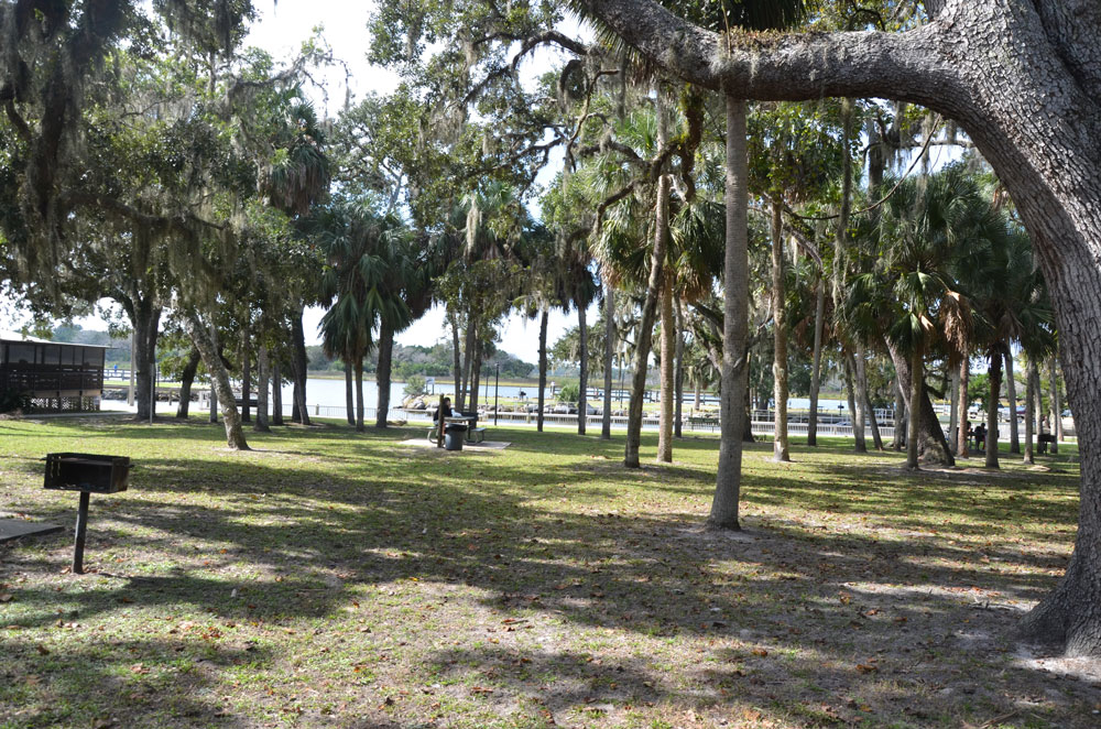 Biongs Landing on the Intracoastal, one of the Flagler County parks that could see more activity with the county's decision to reopen parks and trails in its jurisdiction, but not within cities. The decision is not welcomed by the cities. (© FlaglerLive)