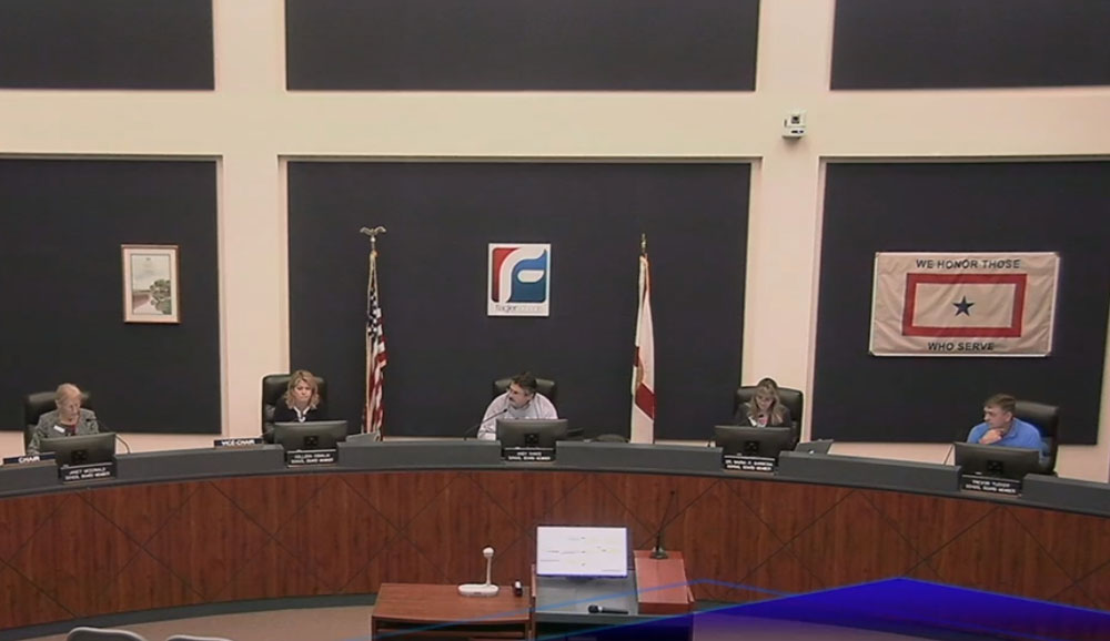 The school board meeting today.