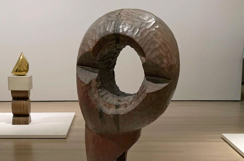 Not all there: detail from Constantin Brancusi's 'Socrates' (1922), at the Museum of Modern Art in New York. (© FlaglerLive)