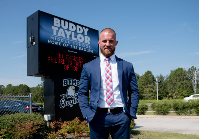 Buddy Taylor Middle School's new principal, Bobby Bossardet.
